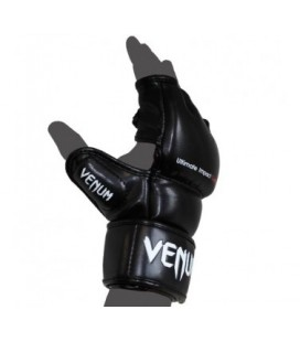 "Venum ""Impact"" MMA Gloves - Skintex Leather - Black Size M"
