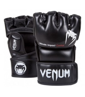 "Venum ""Impact"" MMA Gloves - Skintex Leather - Black Size M"